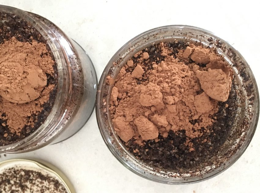 zero waste beauty, coffee body scrub